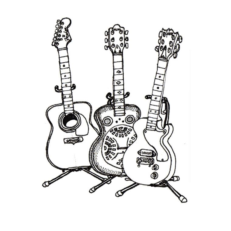 34 Dessins De Coloriage Guitariste À Imprimer Sur encequiconcerne Coloriage Guitare