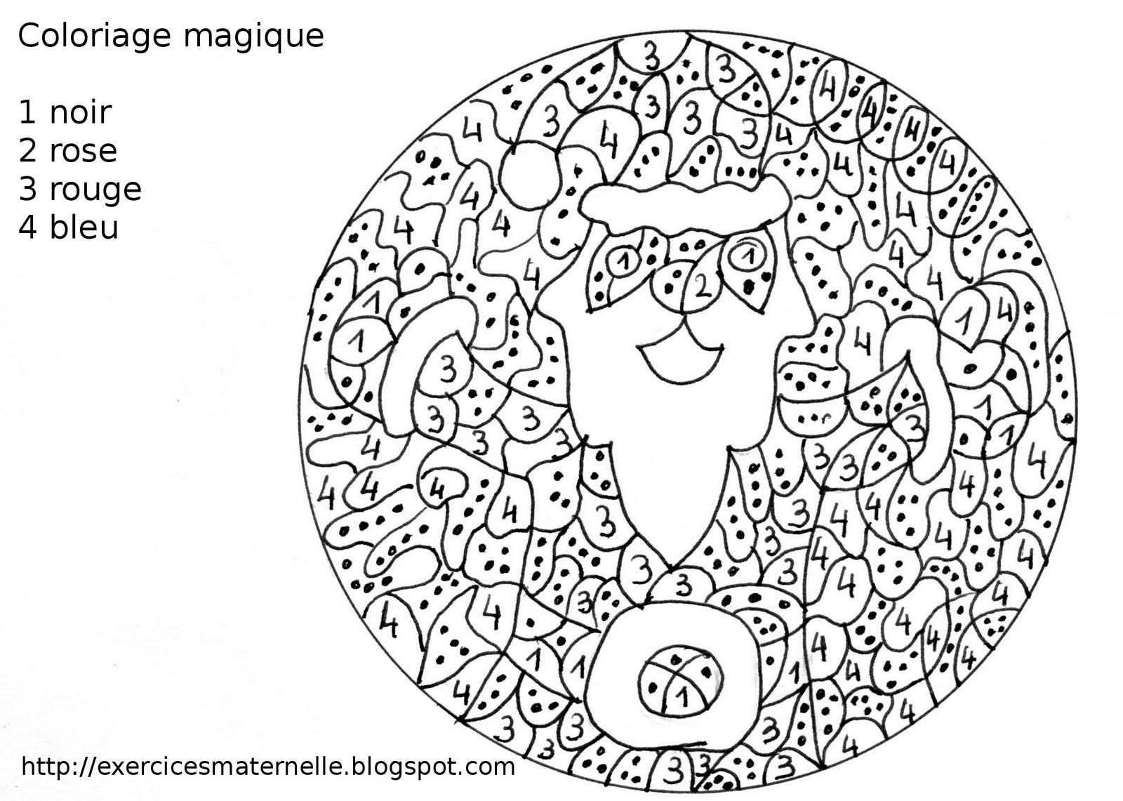34 Dessins De Coloriage Magique Noël À Imprimer intérieur Coloriages Magiques Noel