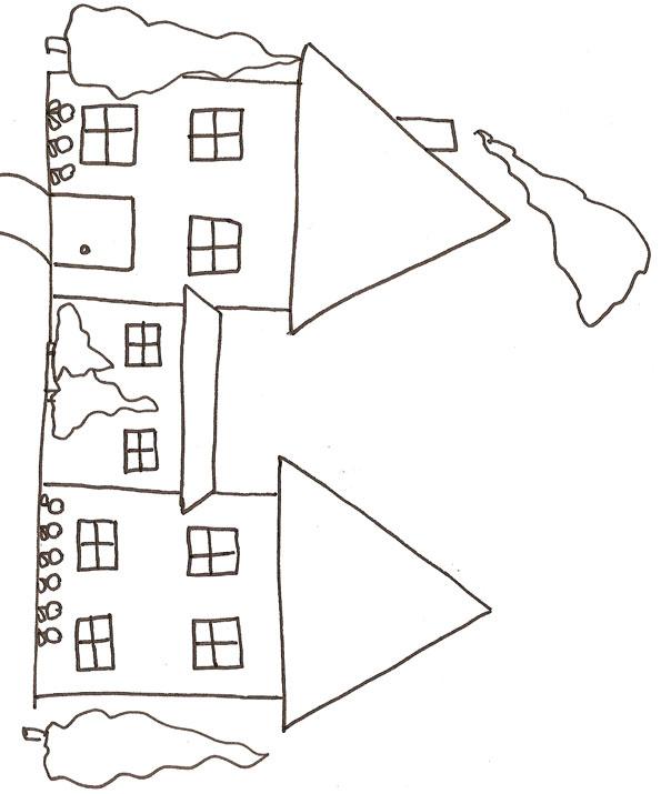 36 Dessins De Coloriage Maison À Imprimer pour Dessin De Maison Facile