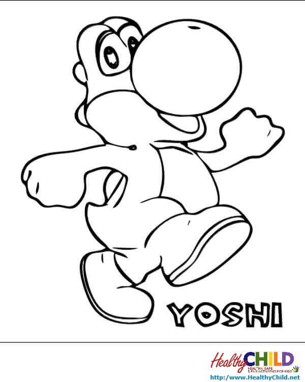 36 Dessins De Coloriage Yoshi À Imprimer Sur Laguerche concernant Dessin De Yoshi