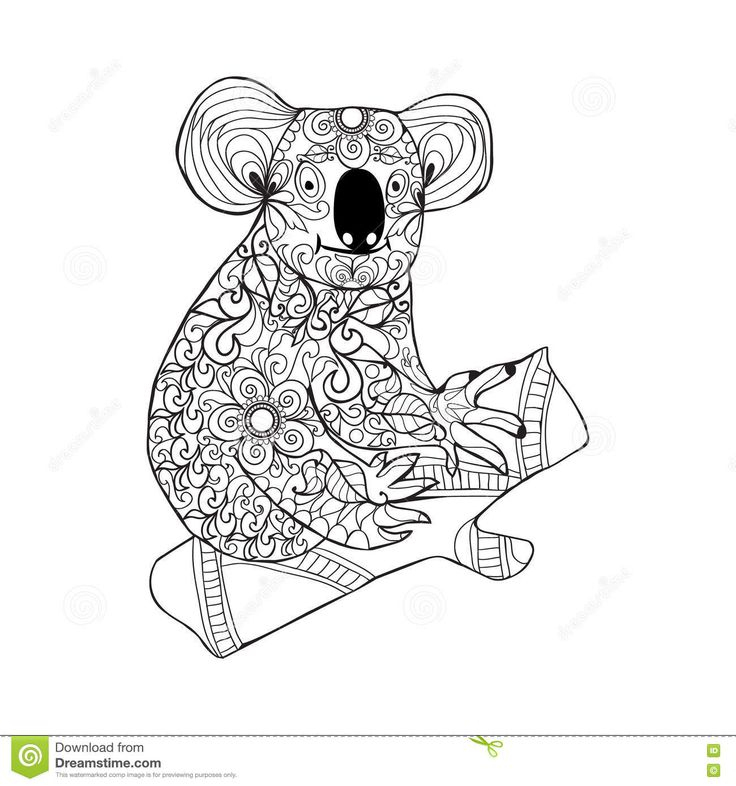 371 Best Coloring Bear Images On Pinterest serapportantà Coloriage De Koala
