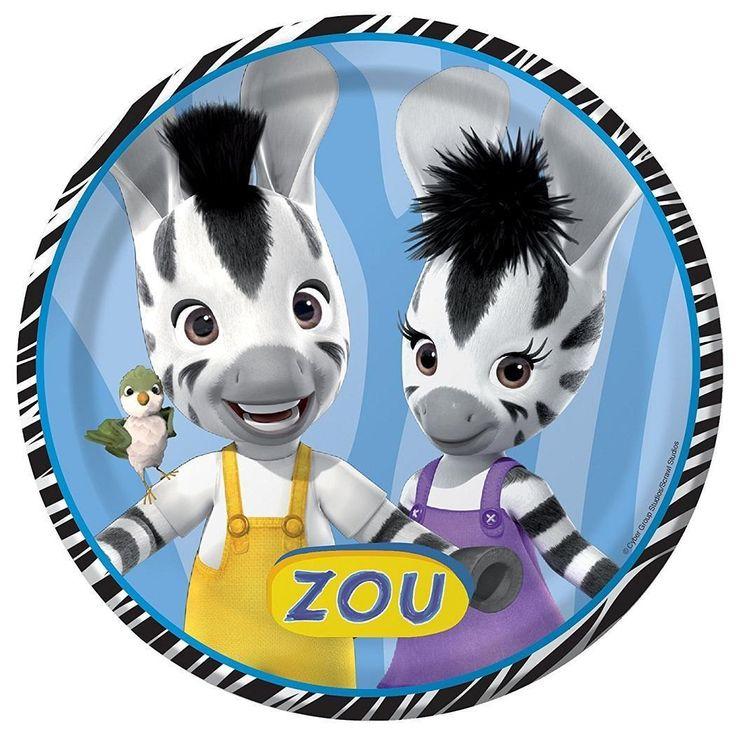 $4.99 - Zou Cartoon Zebra Bizou Elzee Kids Birthday Party encequiconcerne Image Elzee
