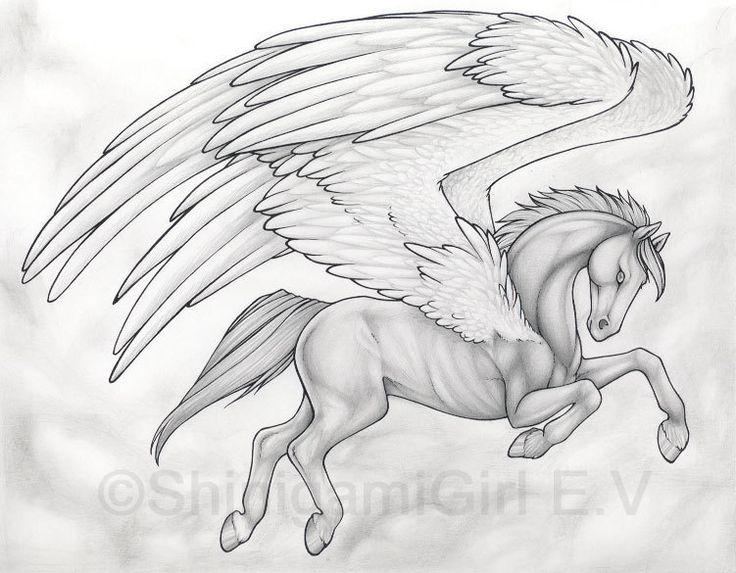 421 Best Unicorns Images On Pinterest | Mythological à Dessin Pegase
