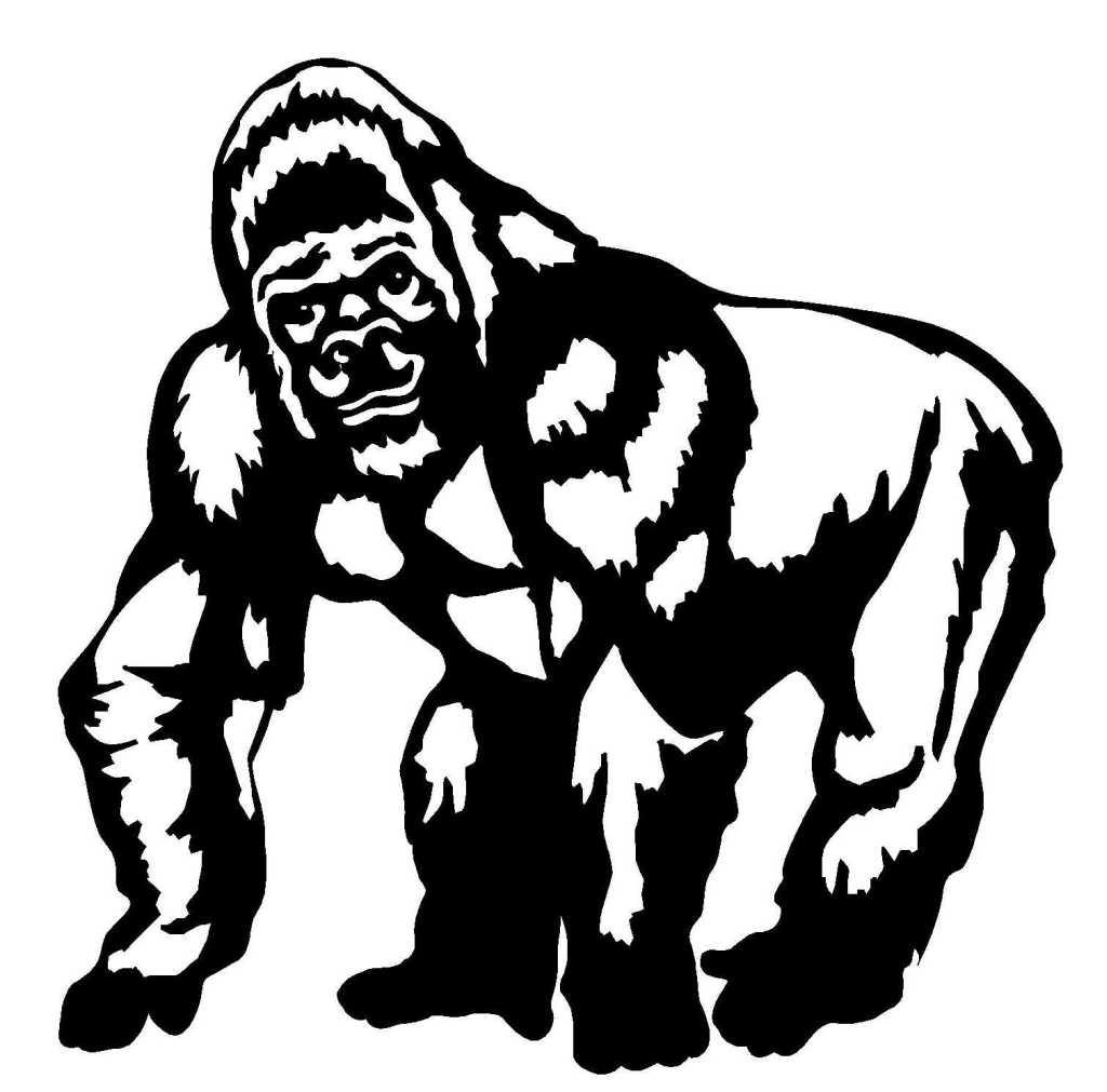 45 Dessins De Coloriage Gorille À Imprimer concernant Coloriage Guepard Et Dessin Imprimer