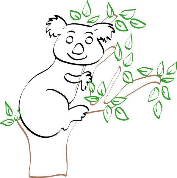 45 Dessins De Coloriage Koala À Imprimer encequiconcerne Coloriage De Koala