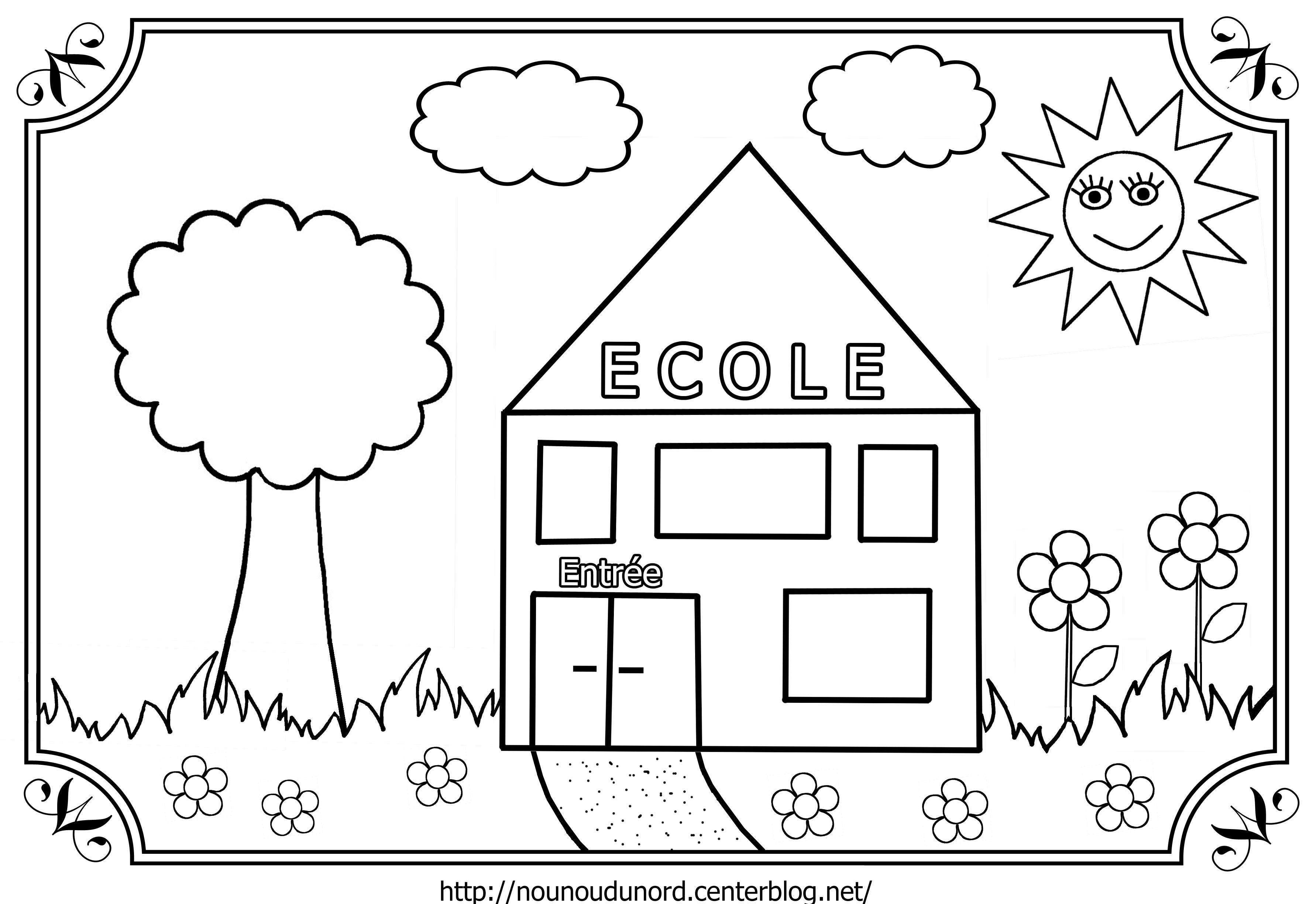 46 Dessins De Coloriage Rentrée Maternelle À Imprimer Sur concernant Coloriage Rentree