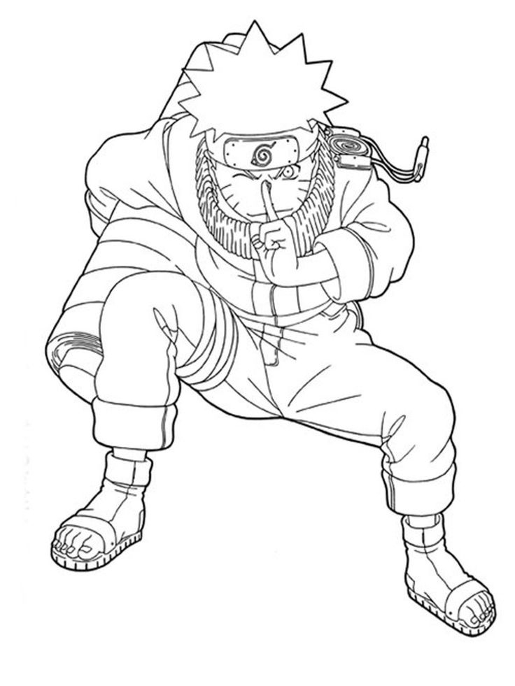 49 Best Naruto Coloring Pages Images On Pinterest | White dedans Naruto Shippuden Coloring Pages