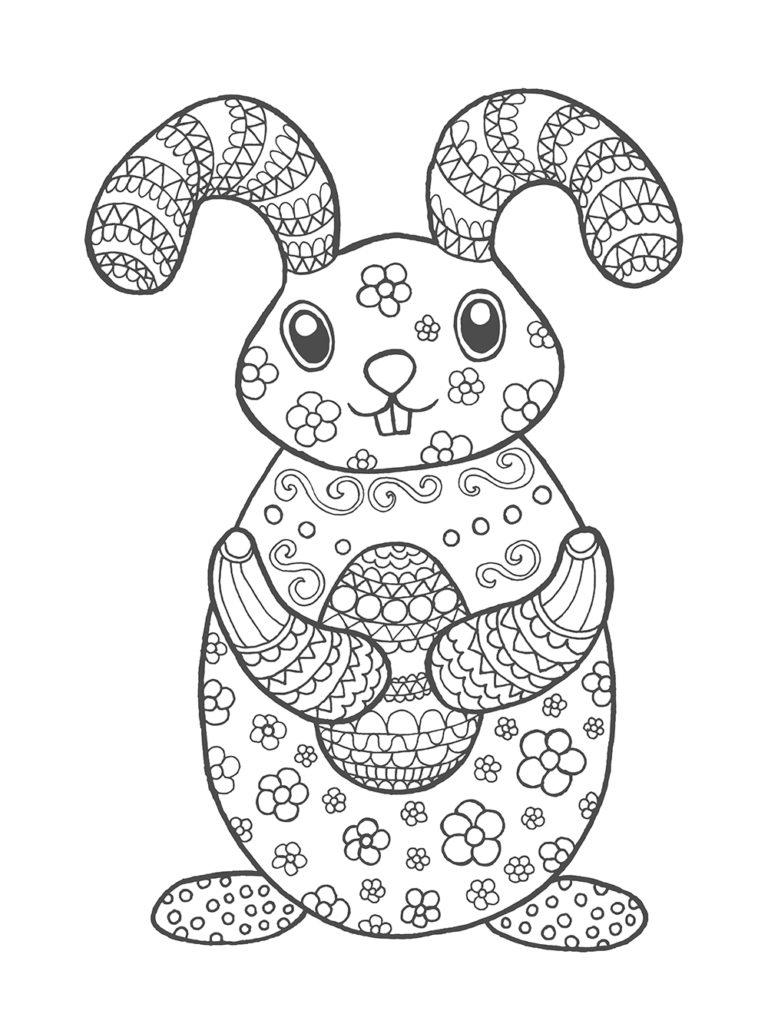 5 Beaux Coloriages De Pâques Pour Enfants & Adultes • • dedans Coloriage Paque A Imprimer