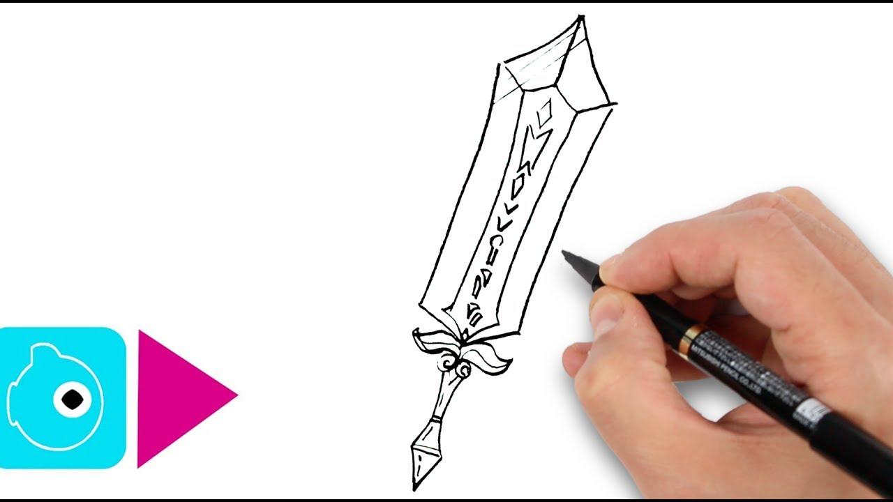 5 Dessins Faciles À Faire #2 - Dessiner Des Épées Magiques à Coloriage Épée