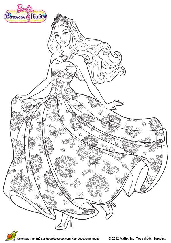 549 Best Ausmalbilder Barbie Images On Pinterest | Barbie concernant Coloriage De Barbie Apprentie Princesse