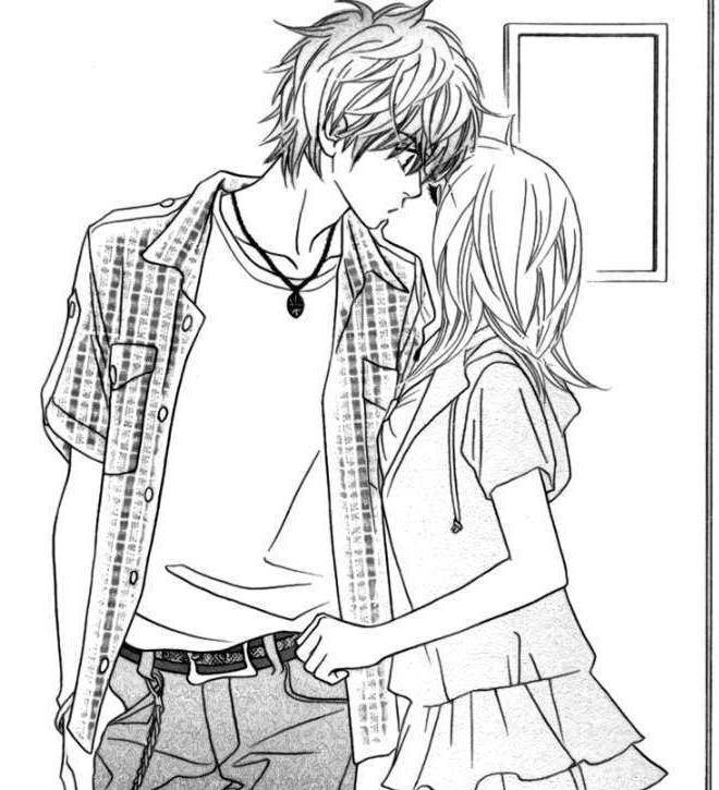 56 Best Anime Kiss Images On Pinterest | Anime Couples destiné Coloriage Manga A Imprimer
