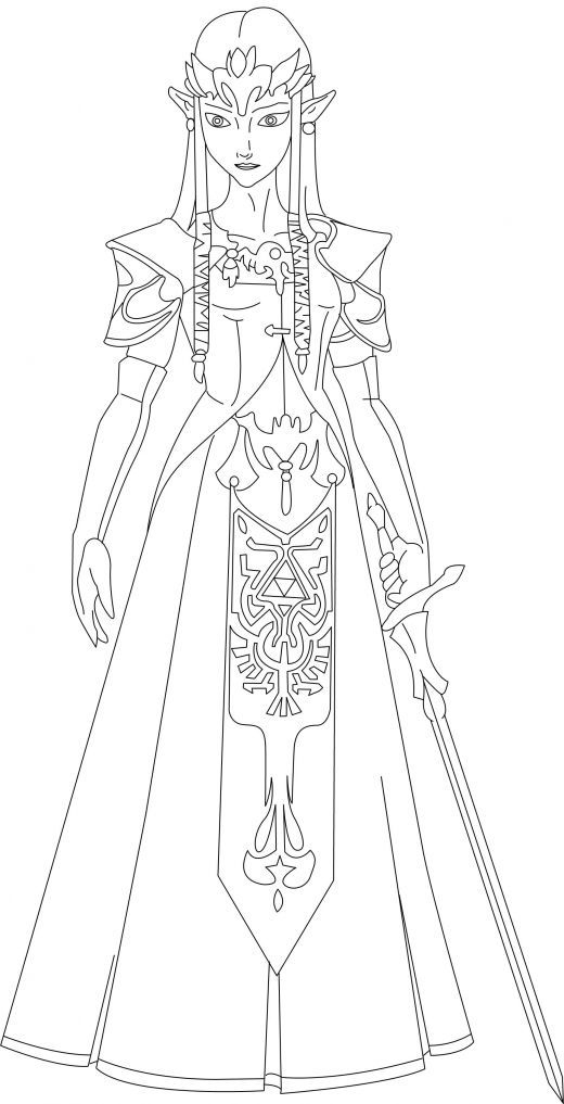 577449_F520 | Coloriage Zelda, Coloriage, Coloriage serapportantà Coloriage Zelda Twilight Princess