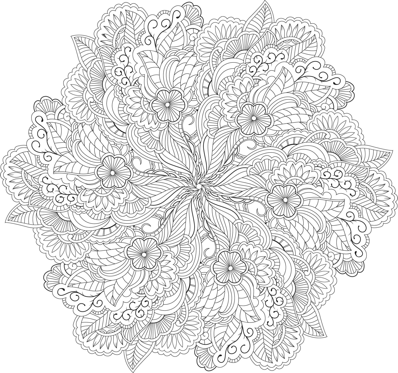 60-Mandalas-Zen (2480×2319) | Mandala Coloring Pages dedans Coloriage Adulte Mandala