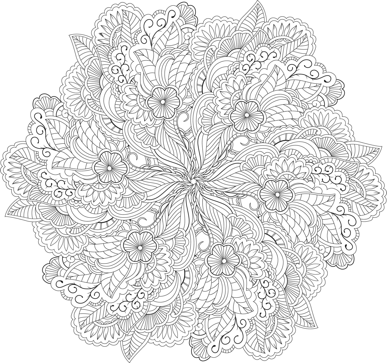 60-Mandalas-Zen (2480×2319) | Mandala Coloring Pages tout Coloriage Mandala Adulte
