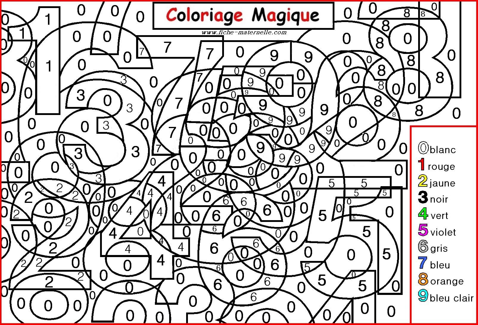 66 Dessins De Coloriage Magique À Imprimer Sur Laguerche destiné Coloriage Par Numéro Adulte À Imprimer