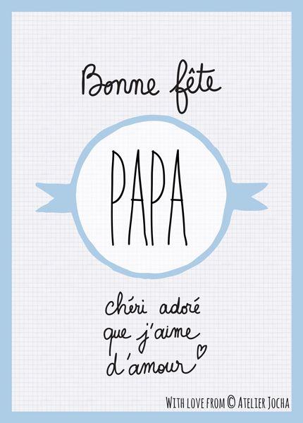 7 Best Bonne Fete Papa Images On Pinterest   Father'S Day dedans Bonne F?Te Papa ? Imprimer
