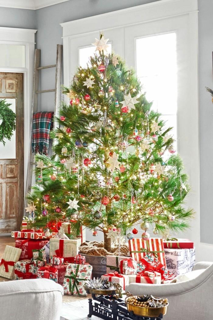 75 Photos De Sapin De Noël Décoré Pour Allumer Votre destiné Sapin De Noel Avec Cadeaux