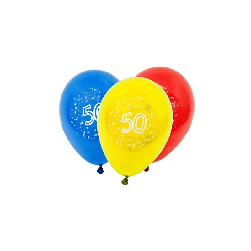 8 Ballons De Baudruche 50 Ans - Fête Anniversaire - A La dedans Dessin Ballon Baudruche
