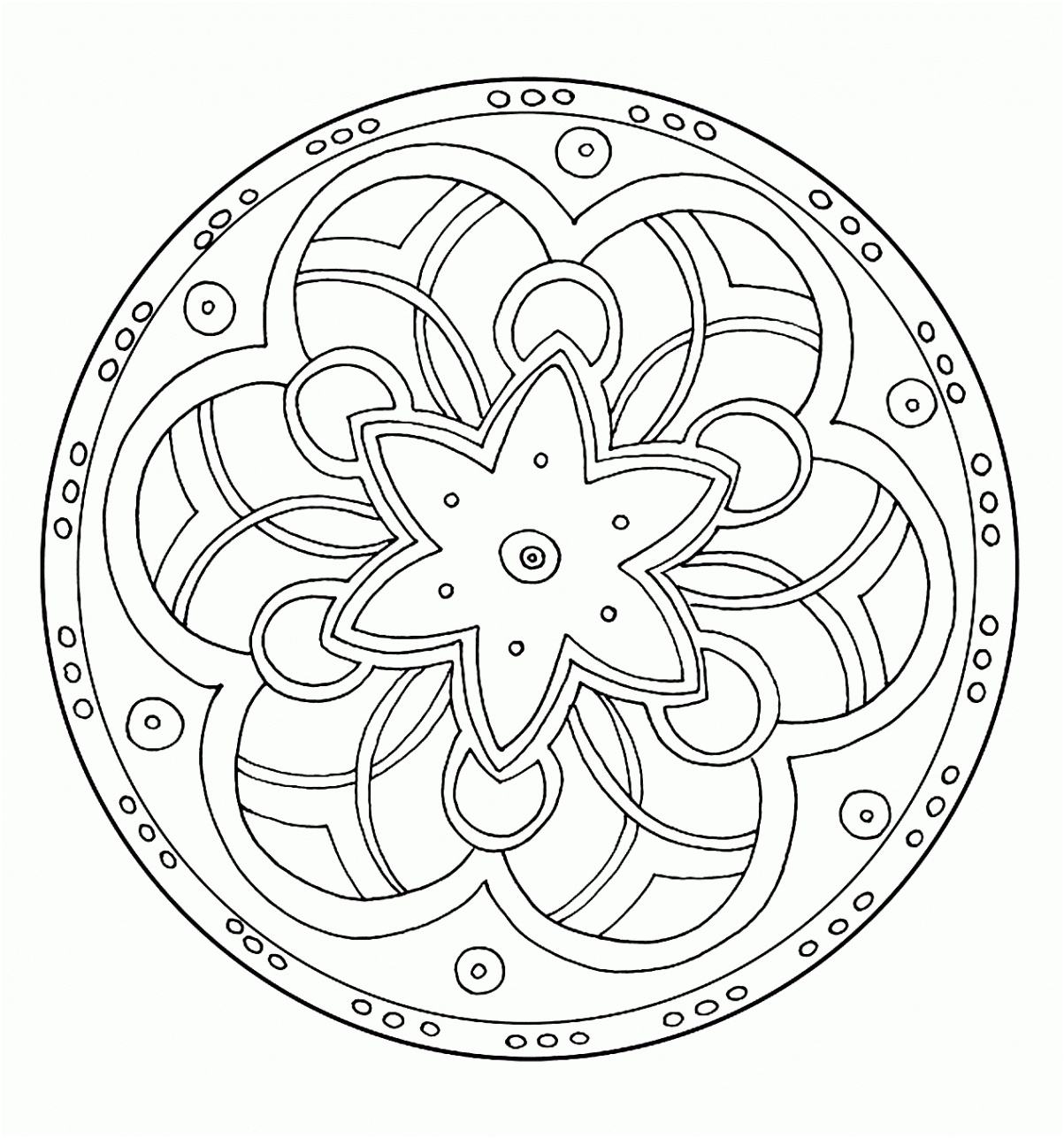 8 Calme Coloriage Enfant 5 Ans Image - Coloriage avec Mandala Pour Petit