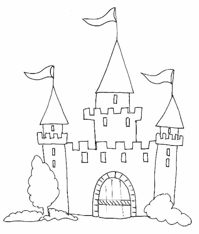 8 Luxe De Chateau A Dessiner Images | Coloriage serapportantà Dessin Chateau Moyen Age