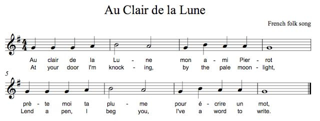 9 Best Recorder Music Images On Pinterest | Recorder Music avec Lyrics Au Clair De La Lune