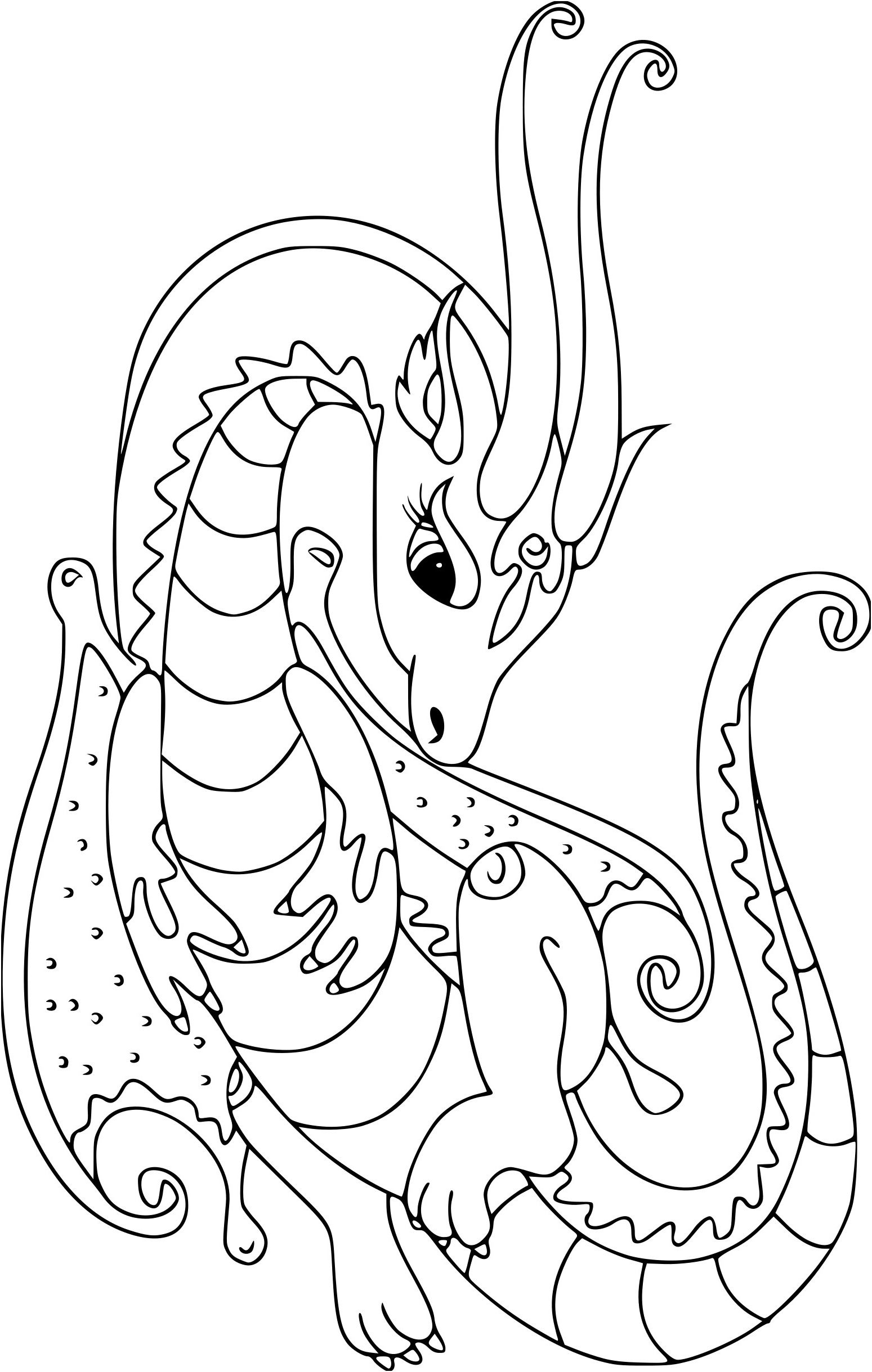 9 Excellent Coloriage Pour Filles Image In 2020 | Dragon à Coloriage Difficile Dragon