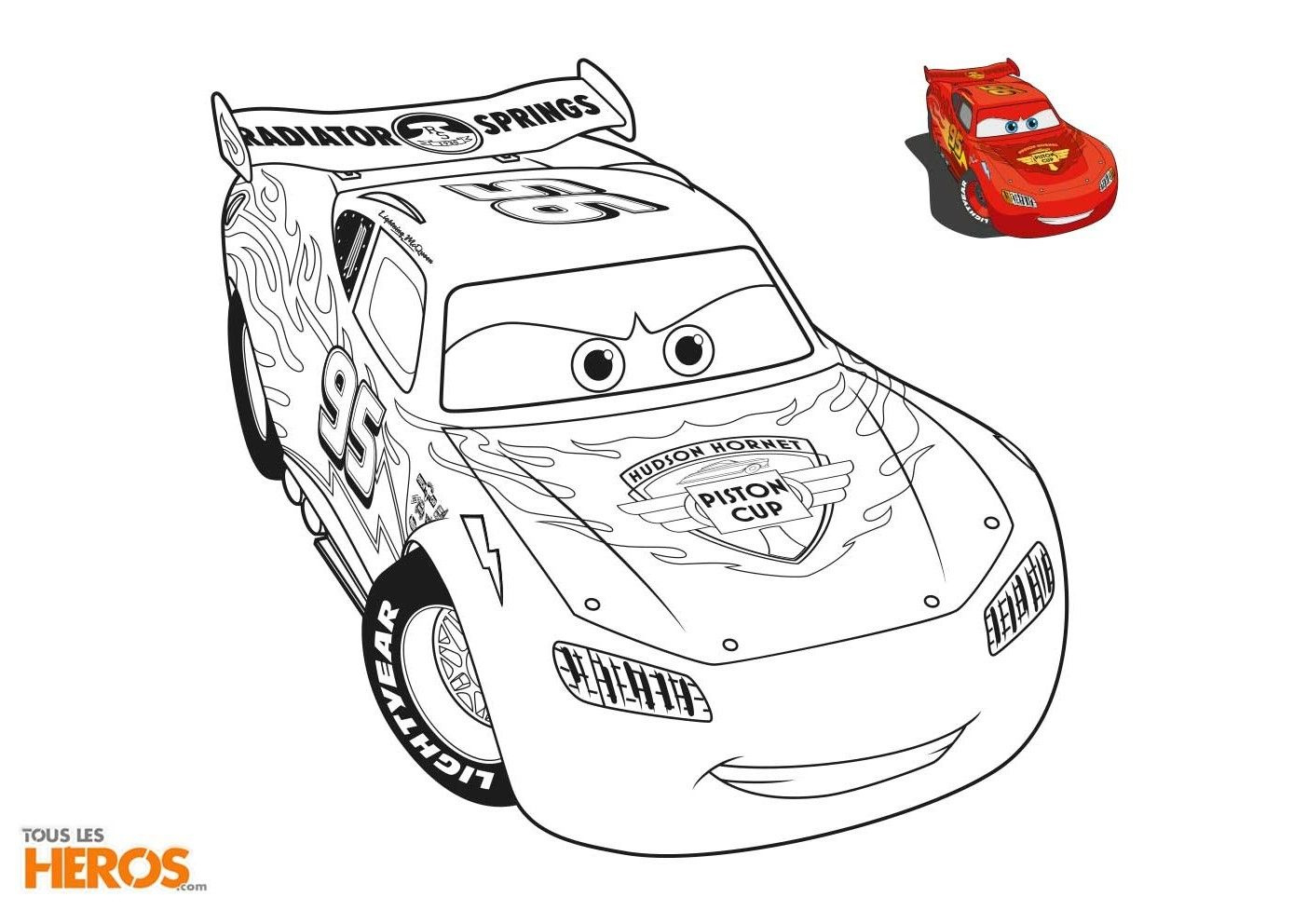 9 Fabuleux Coloriage Flash Mcqueen Collection - Coloriage intérieur Coloriage Flash Mcqueen