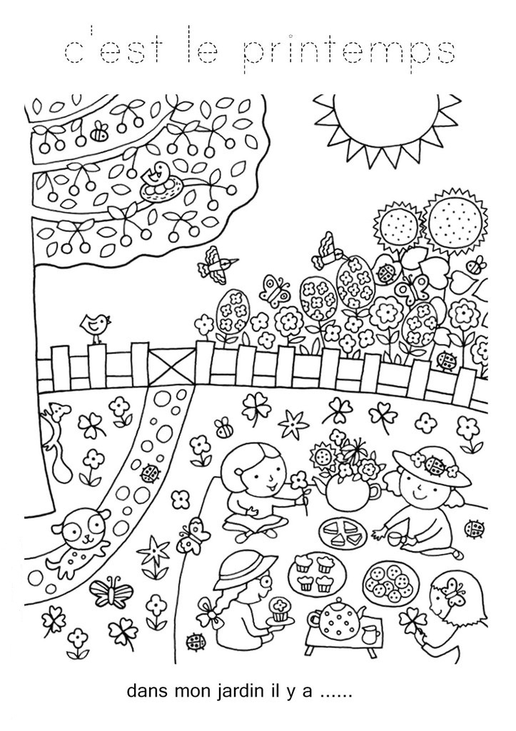 9 Precious Coloriage Jardin Photograph - Coloriage destiné Oloriage Potager A Imprimer
