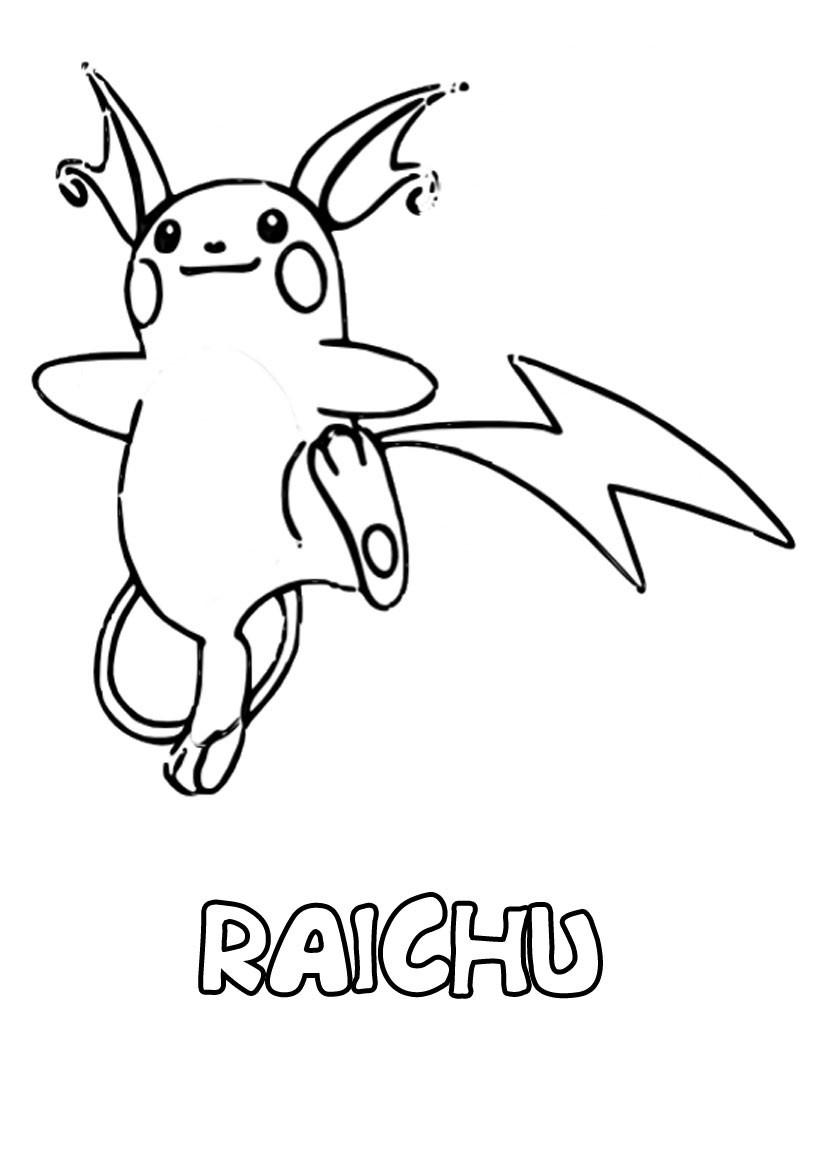9 Rustique Coloriage Pokemon Raichu Photos - Coloriage dedans Coloriage Pokemon Raichu