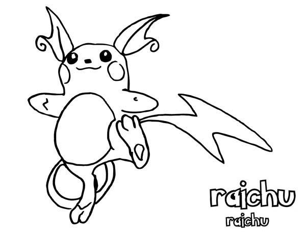 9 Rustique Coloriage Pokemon Raichu Photos - Coloriage serapportantà Coloriage Pokemon Raichu