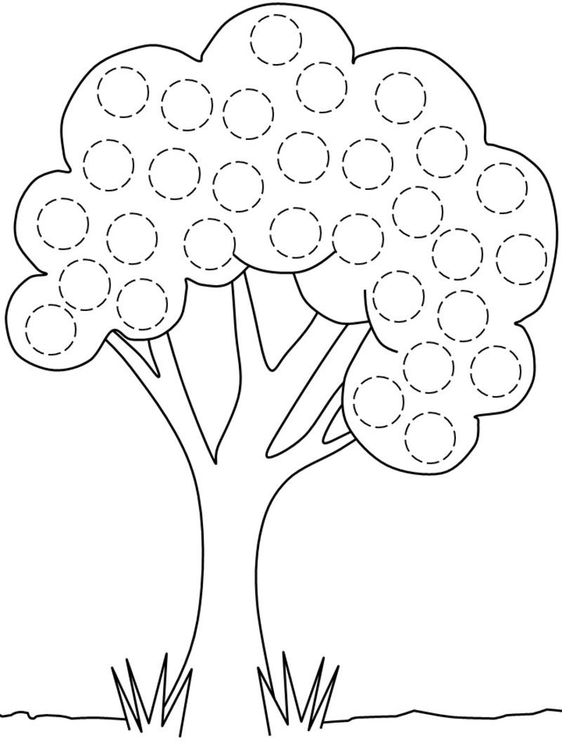 91 Dessins De Coloriage Arbre Fruitier À Imprimer encequiconcerne Dessin Gommette A Imprimer