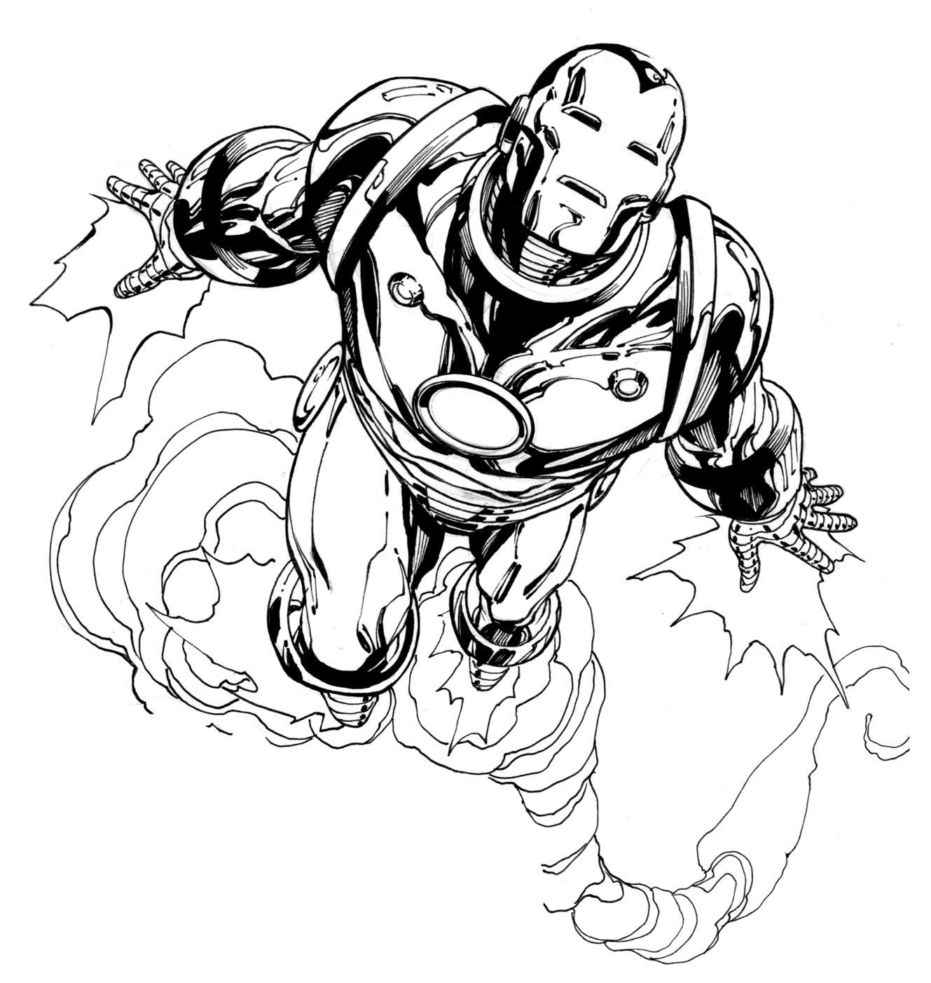 92 Dessins De Coloriage Iron Man À Imprimer Sur Laguerche encequiconcerne Dessin A Colorier Gratuit Iron Man