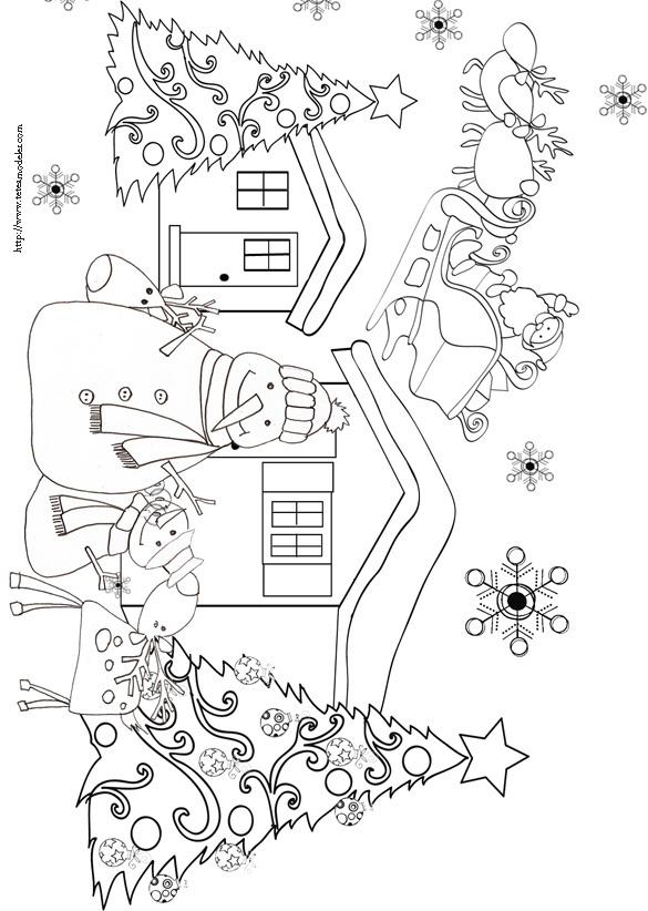 97 Dessins De Coloriage Noël Cycle 3 À Imprimer intérieur Village De Noel Dessin