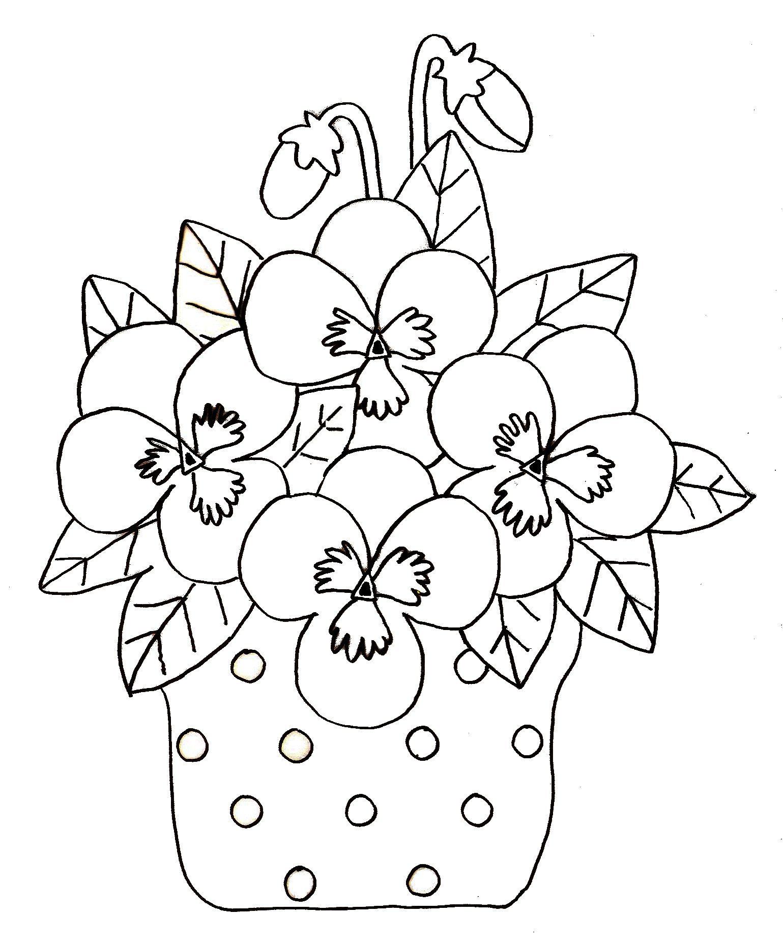 98 Dessins De Coloriage Printemps Fleurs À Imprimer avec Coloriage Bouquet De Fleurs A Imprimer