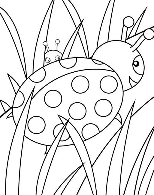 99 Dessins De Coloriage Coccinelle Maternelle À Imprimer tout Coccinelle À Colorier