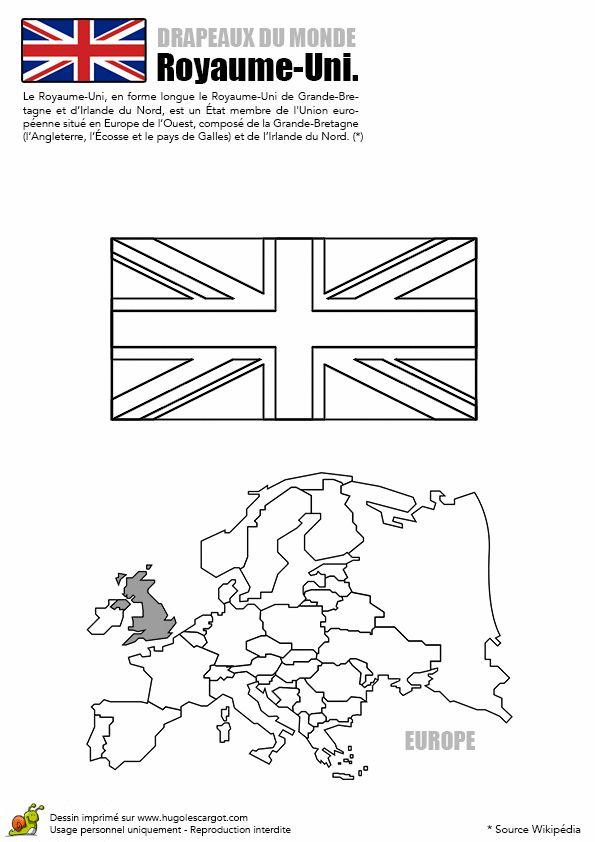 A Colorier, Le Drapeau Du Royaume-Uni. # encequiconcerne Drapeau Angleterre A Colorier