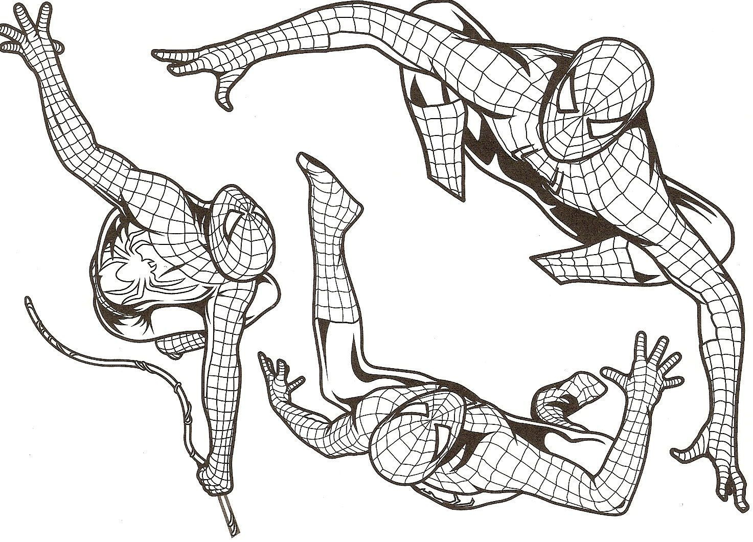 A Colorier - Page 2 encequiconcerne Coloriage Spiderman