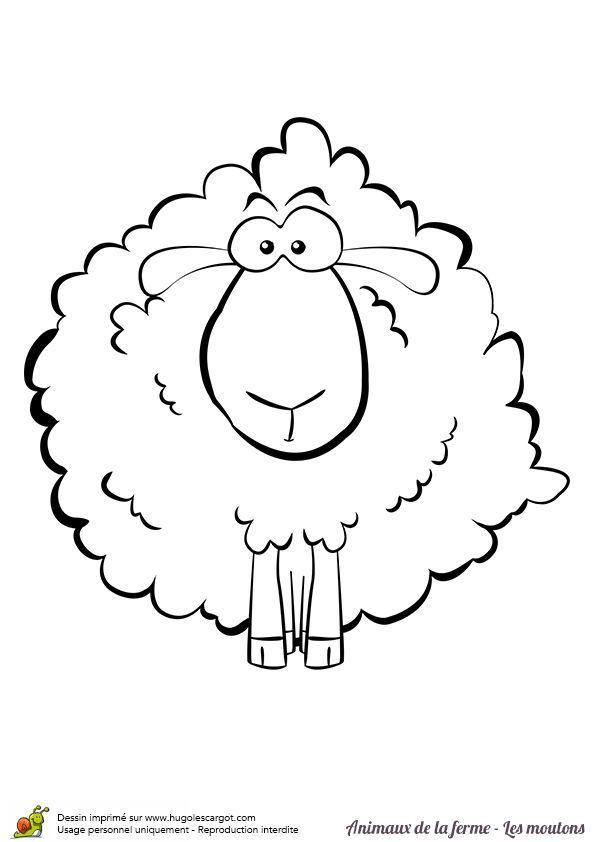 A Colorier Un Gentil Mouton Touffu A Colorier Un G # tout Dessin Mouton Rigolo