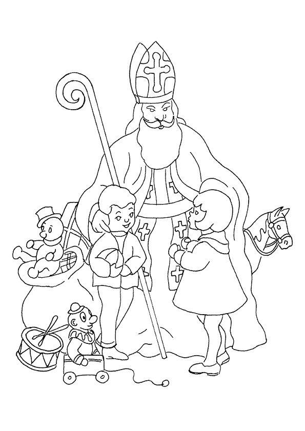 A Colorier, Une Image De Saint Nicolas Pendant Une avec Hugo Coloriage Naruto
