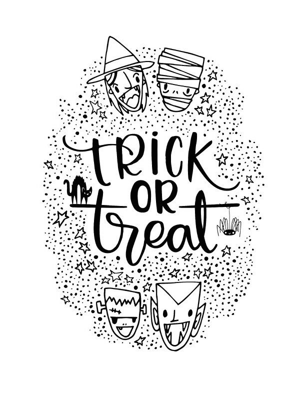 A Fabulous Resource For The Coolest Halloween Printables tout Trick Or Treat Coloring Book: Trick Or