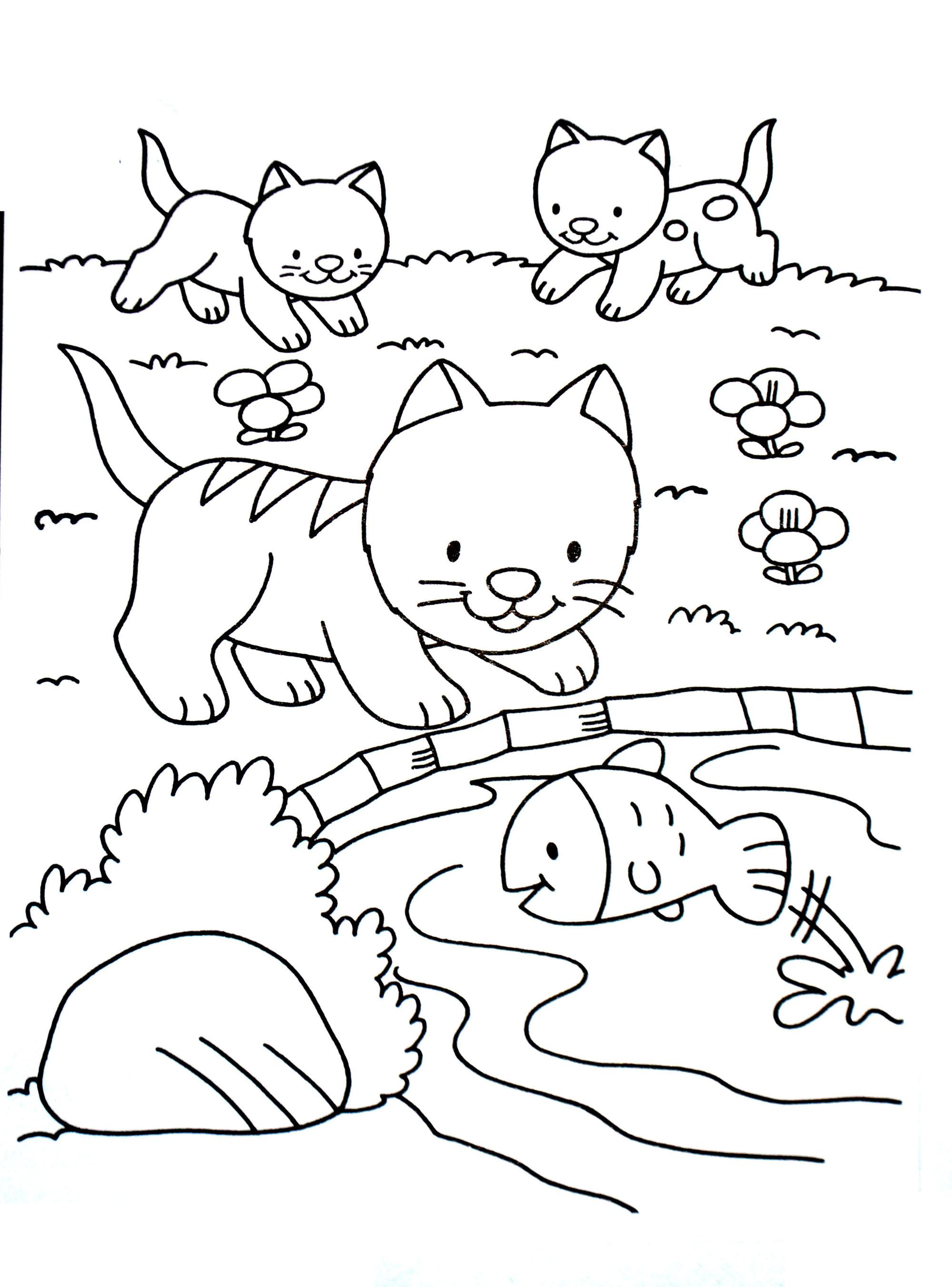 A Imprimer Chat 1 - Coloriages De Chats - Coloriages Pour concernant Coloriage À Imprimer Enfant