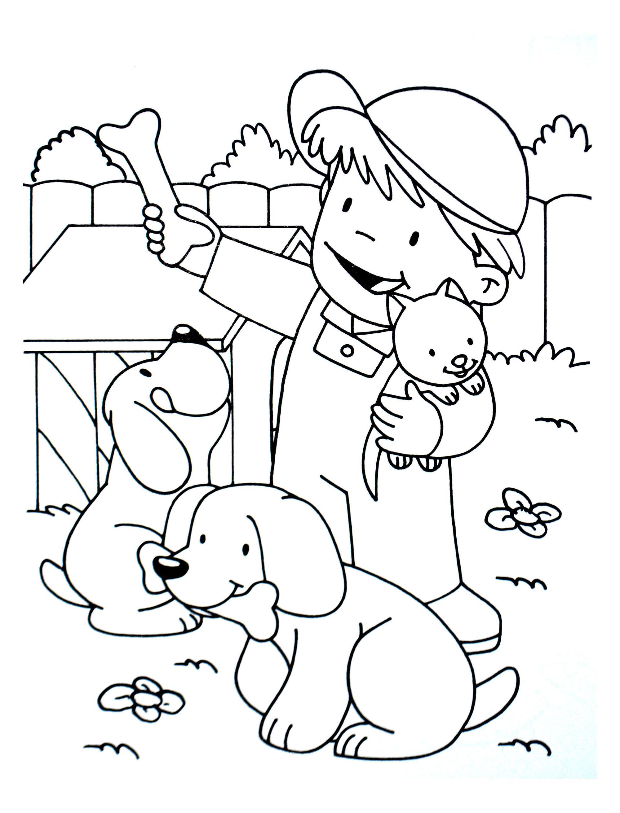 A Imprimer Chiens 6 - Coloriages De Chiens - Coloriages destiné Coloriage Gratuit A Imprimer