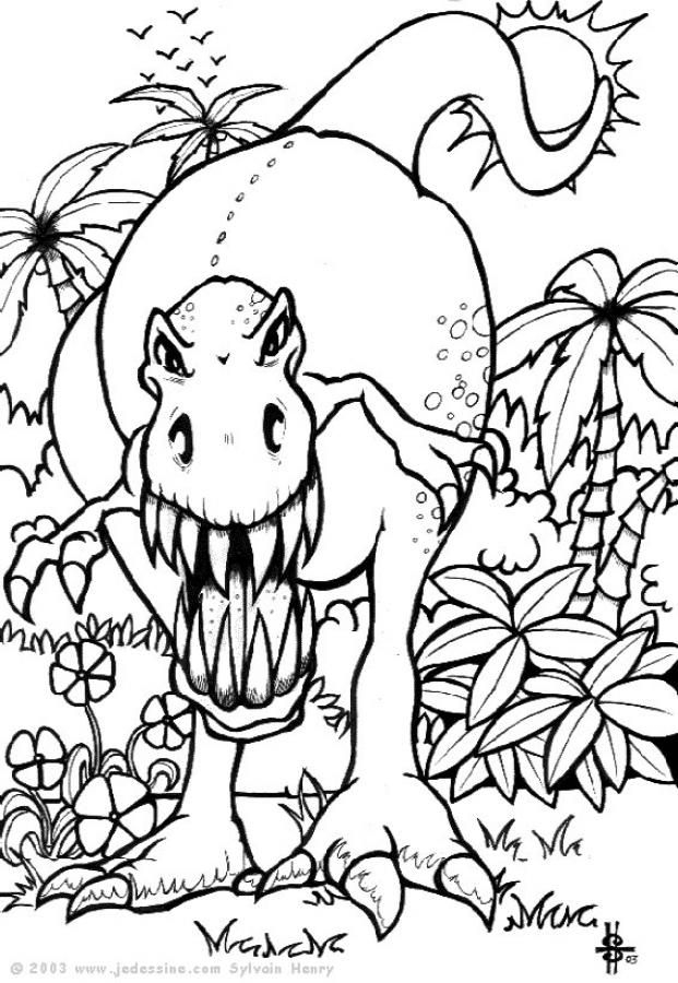 A La Découverte Des Dinosaures | Värityskuvia concernant Site De Coloriage Gratuit