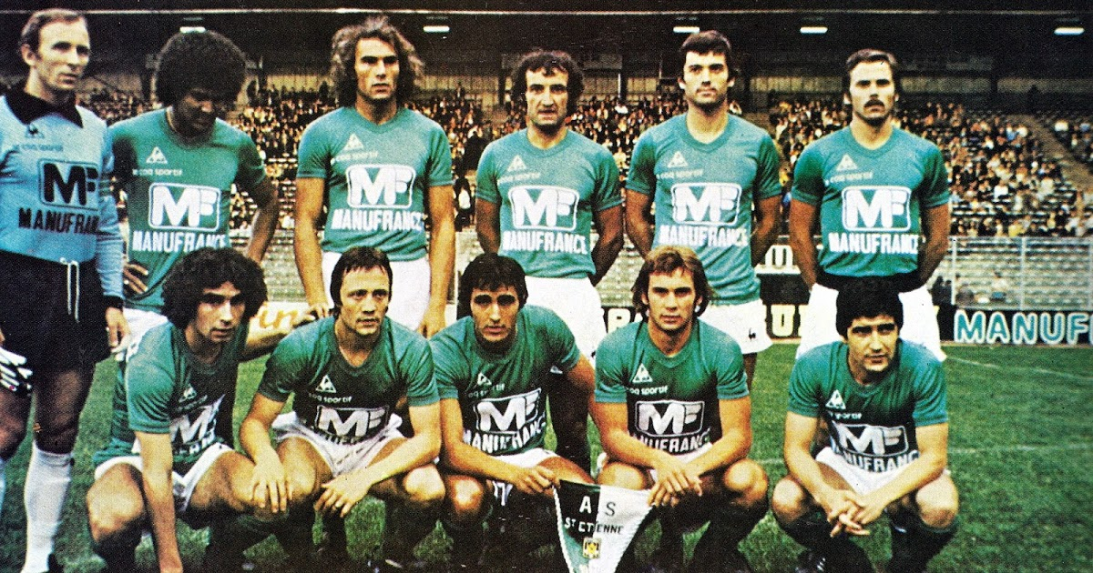 A.s Saint-Etienne 1978-79. - The Vintage Football Club encequiconcerne Ecusson Des Equipes De Foot