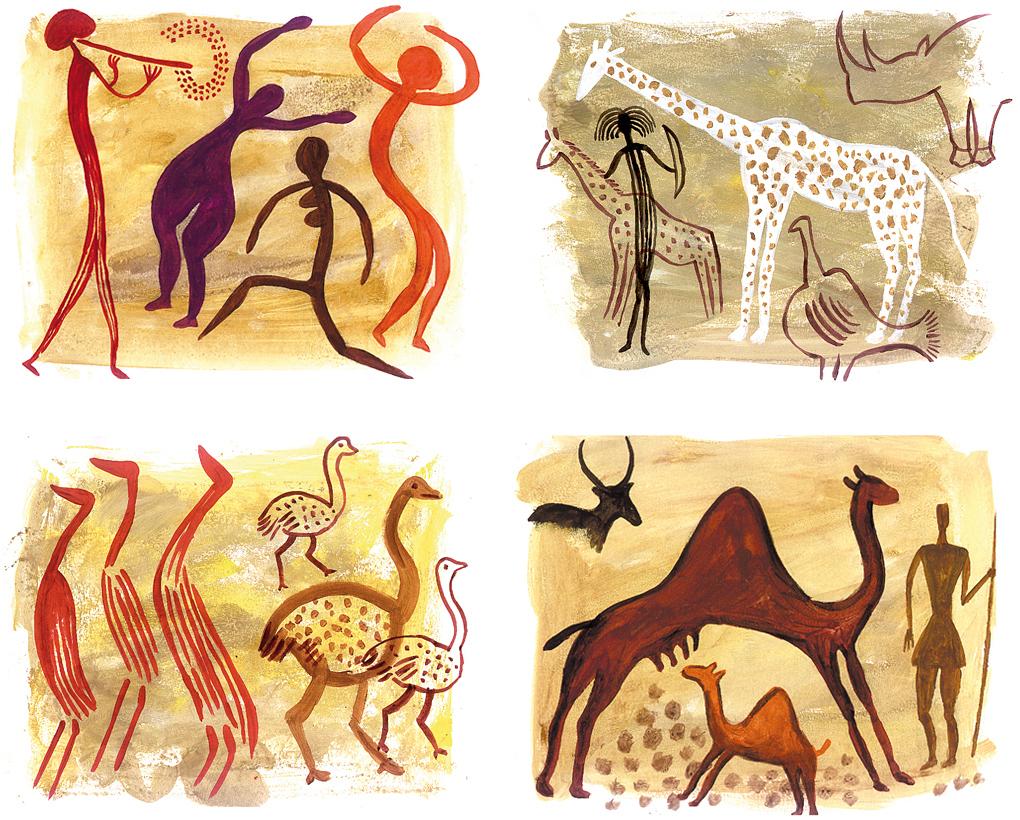Aborigènes, Préhistoire | Fred Sochard Illustration L serapportantà Dessin Préhistoire