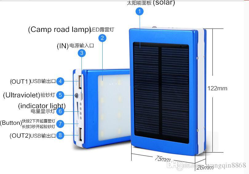 Acheter 15000 Mah Chargeur Solaire Et Batterie Panneau tout De T?L?Chargement De Mp3 D?Charge Desenhos