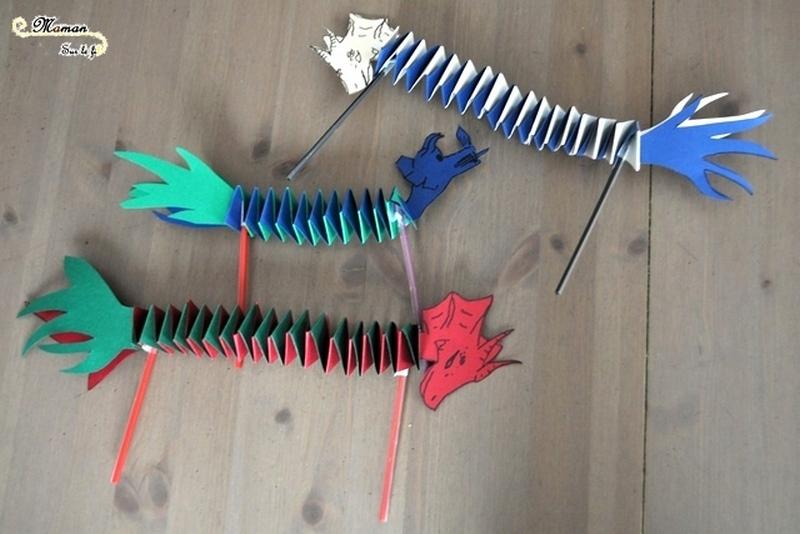 {Activité} Fabriquer Un Dragon Du Nouvel An Chinois tout Fabriquer Un Dragon Chinois