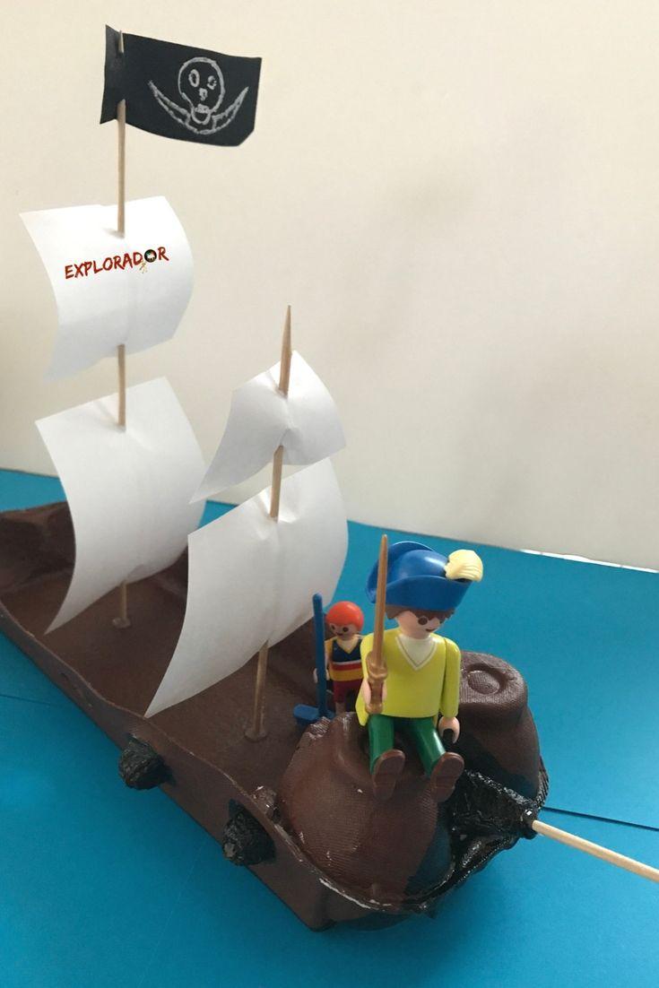 Activité Manuelle Pirate: Fabriquer Un Bateau Pirate Avec destiné Fabriquer Un Bateau Pirate En Carton