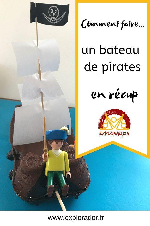 Activité Manuelle Pirate: Fabriquer Un Bateau Pirate Avec pour Fabriquer Un Bateau Pirate En Carton