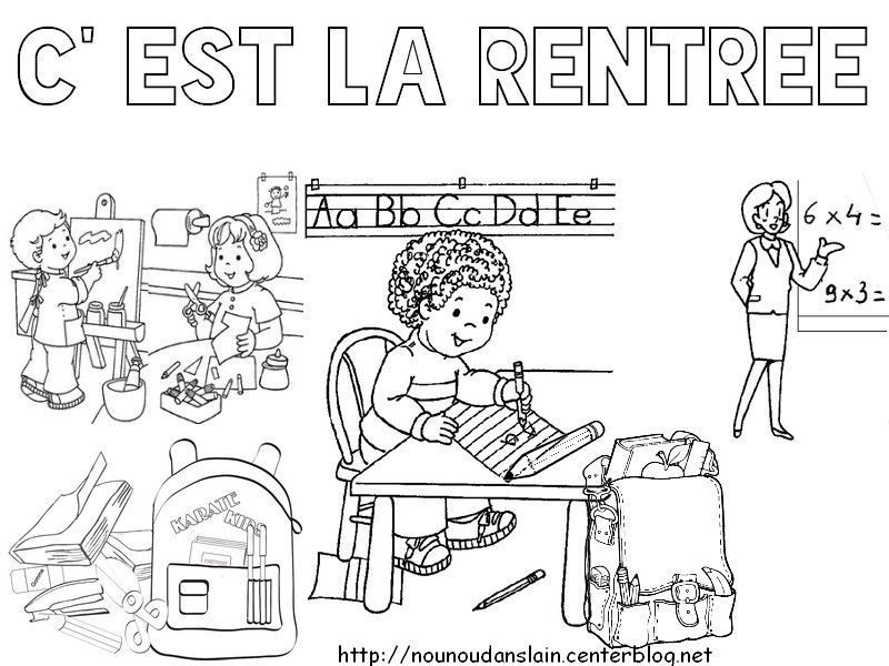 Activite Rentree pour Coloriage Rentrée Maternelle